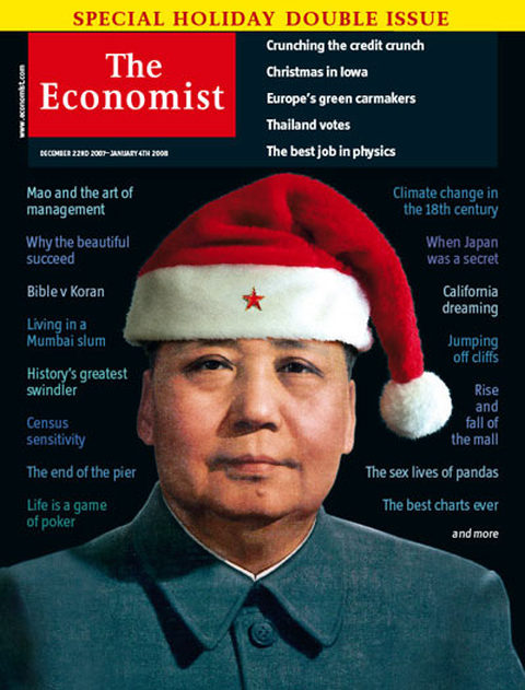 economist mao china christmas santa